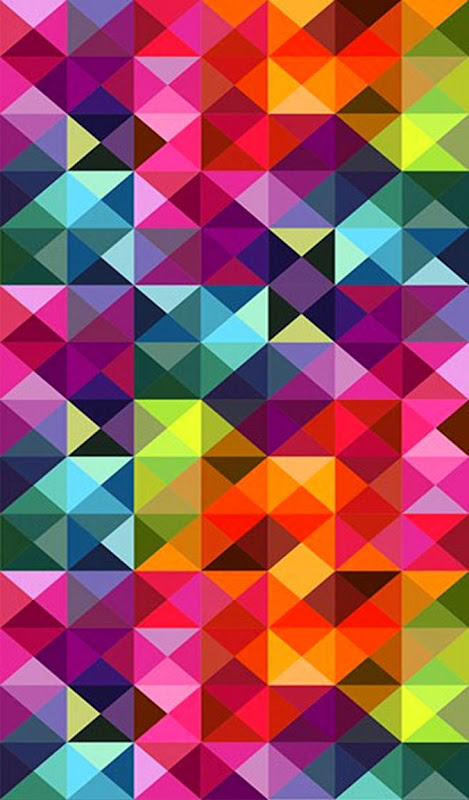 Abstract Diamond Shapes Colorful Pattern Iphone 5 Wallpaper