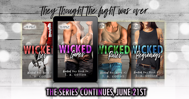 WICKED GAMES by LA Cotton @authorlacotton #CoverReveal #ComingSoon #TheUnratedBookshelf