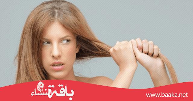 خلطات لعلاج الشعر الجاف والتالف