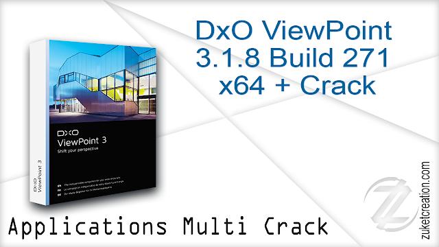 DxO ViewPoint 3.1.8 Build 271 x64 + Crack