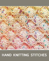 Learn Smocked Slip Stitch Pattern with our easy to follow instructions at HandKnittingStitches.com
