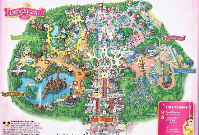 Mapa Disneyland Parku