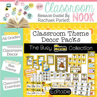 Printable decor for a Bee Theme Classroom