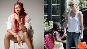 Rapper Cynthia Morgan warns Hollywood actress, Charlize Theron for feminising her son