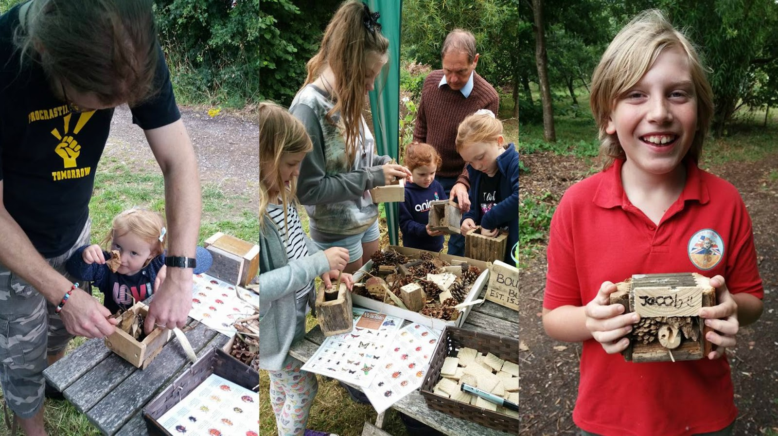 Bug Hotels being made