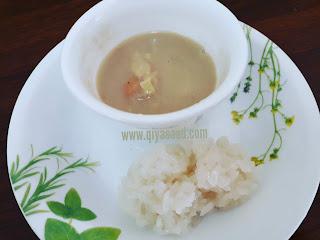 Bubur durian, serawa durian, resepi
