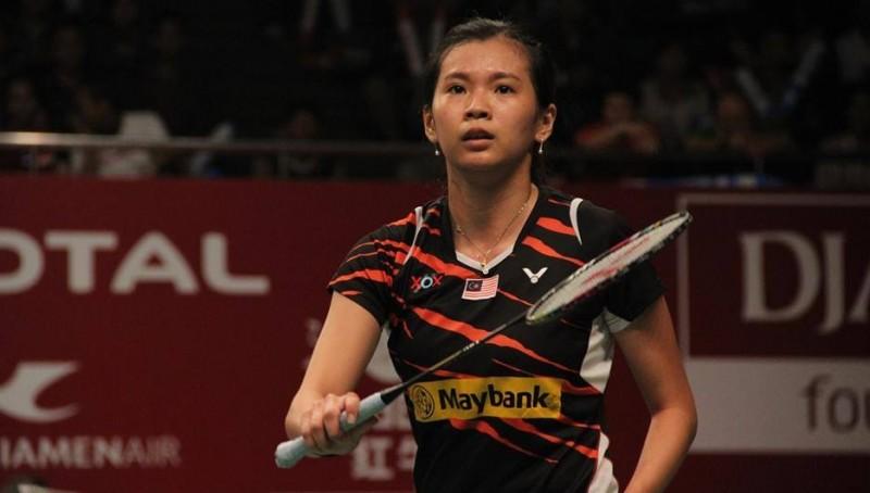 Goh Liu Ying saat beraksi di lapangan