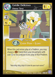 My Little Pony Goldie Delicious, Dinner Time The Crystal Games CCG Card