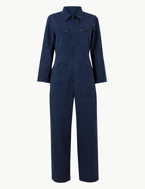 Marks & spencer pure cotton utility jumpsuit