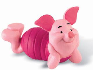 Gambar Piglet Sedih Melamun dalam Kartun Winnie The Pooh