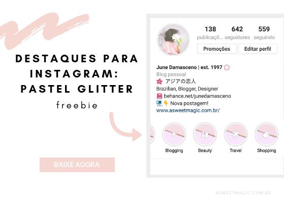 Destaques Instagram Icones Glitter