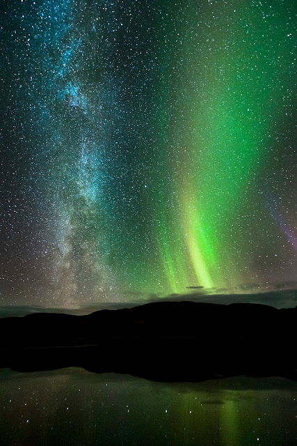 Aurora and the Milky Way Galaxy