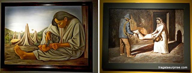 """""""O Espinho"""" e """"O Filho Morto"""", obras de Raúl Anguiano no Museu de Arte Moderna do México"""