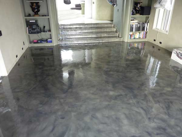 Colored Interior Concrete Floor : How to paint concrete floors in detailed steps