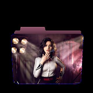 Preview of Attitude Bold Girl icons, Smoking girl wallpaper folder icon