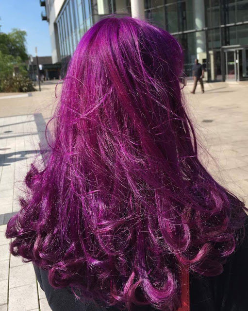 bex from bubblybex3 rocking purple hair