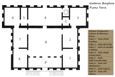 Mappa Piano Terra Galleria Borghese