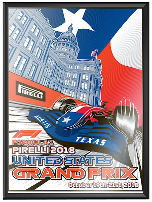 Formula 1 Grand Prix Austin Circuit of the Americas 2018 Screen Print by M. Fitz x Phenom Gallery x Fanatics