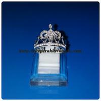 cincin mahkota elegan perak untuk wanita