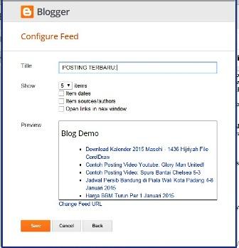 Cara Membuat Recent Post di Blog Blogspot