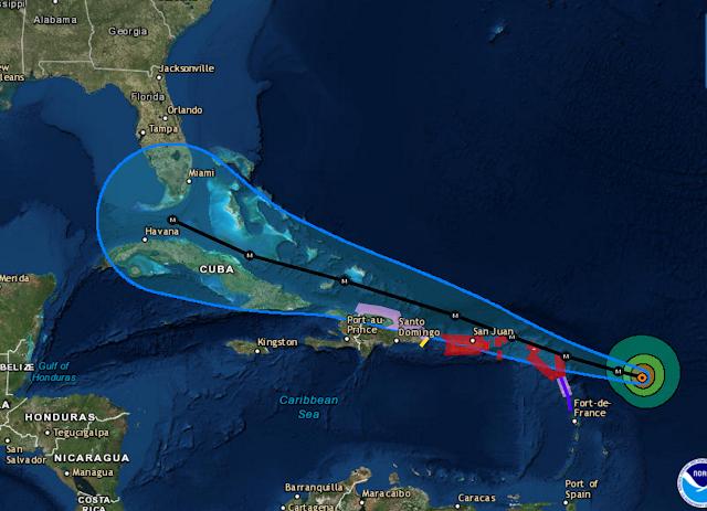 Huragan Irma obszar zasięgu w USA