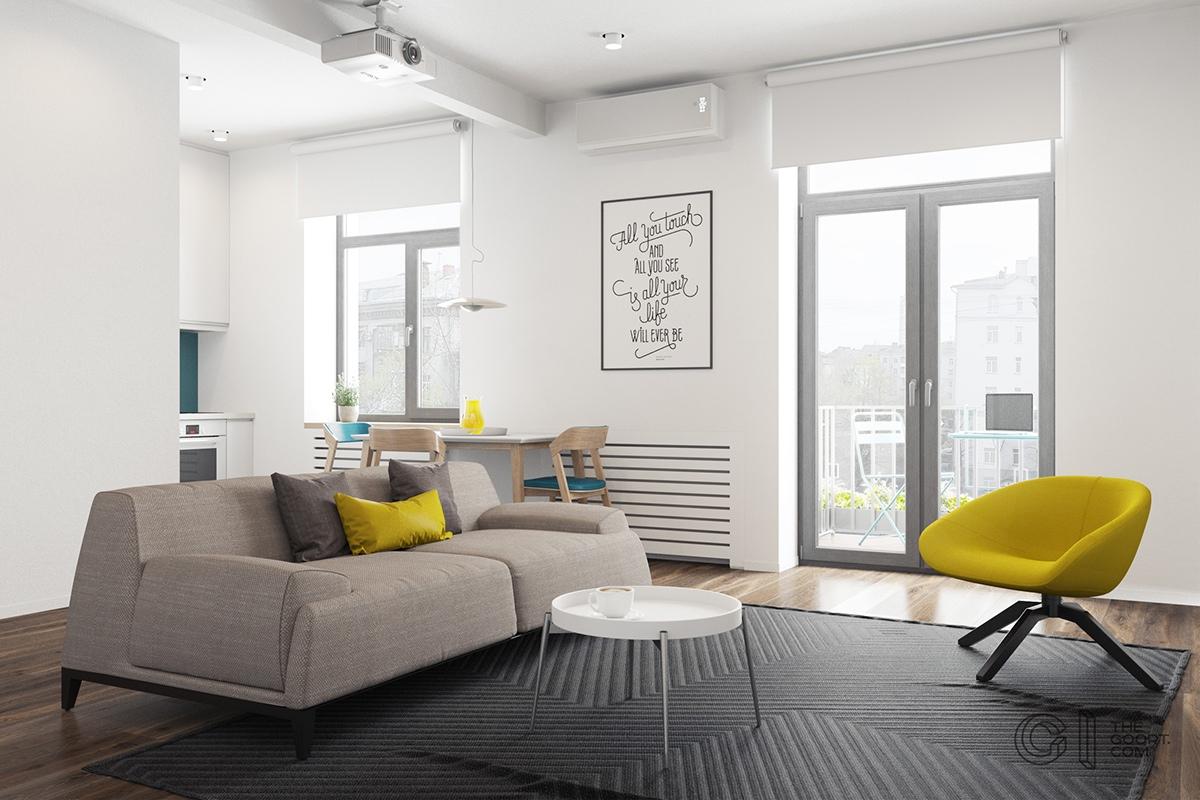 Galery Interior Design: Modern Style Apartments Under 50 ...