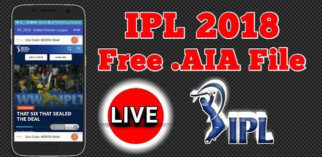 IPL 2018 FREE AIA FILE DOWNLOAD | IPL Live Hanguma App with Free Thunkable AiA in hindi 2018