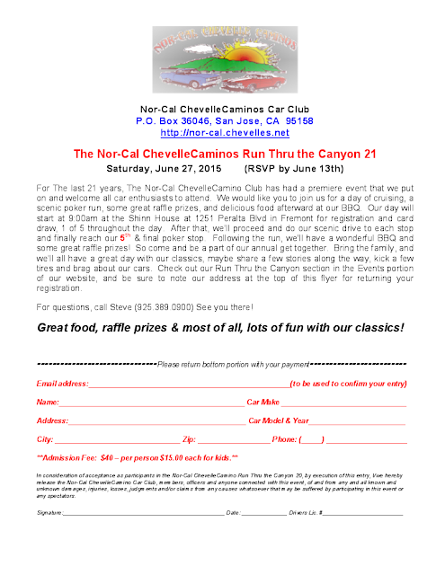 2015 Run Thru the Canyon Reservation Form