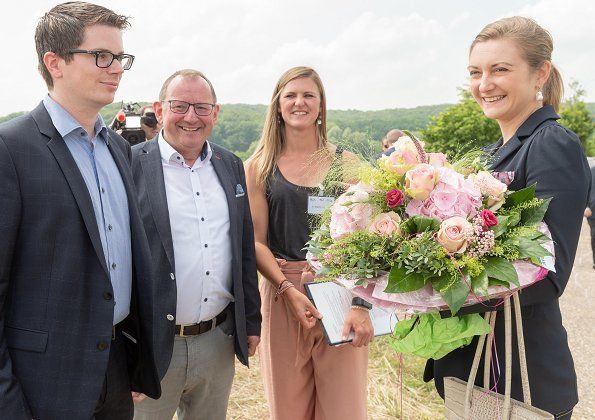 Hereditary Grand Duchess Stéphanie attended the presentation of   the LeguTec project and toured the agriculture area in Manternach, Luxembourg