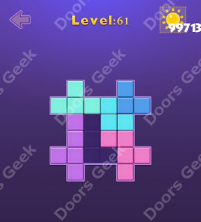 Cheats, Solutions, Walkthrough for Move Blocks Easy Level 61