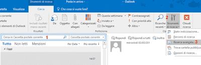 Ricerca avanzata Outlook 365
