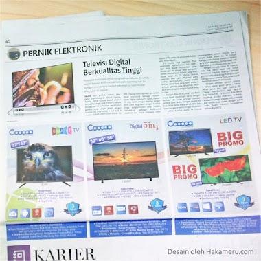 Desain Iklan Cetak / Koran Untuk Perusahaan Elektronik