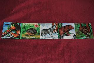 Animalele din padurea noastra, editura Gama