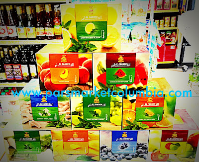 Assortment of Al Fakher Flavors at Pars Market Columbia Howard County Maryland 21045
