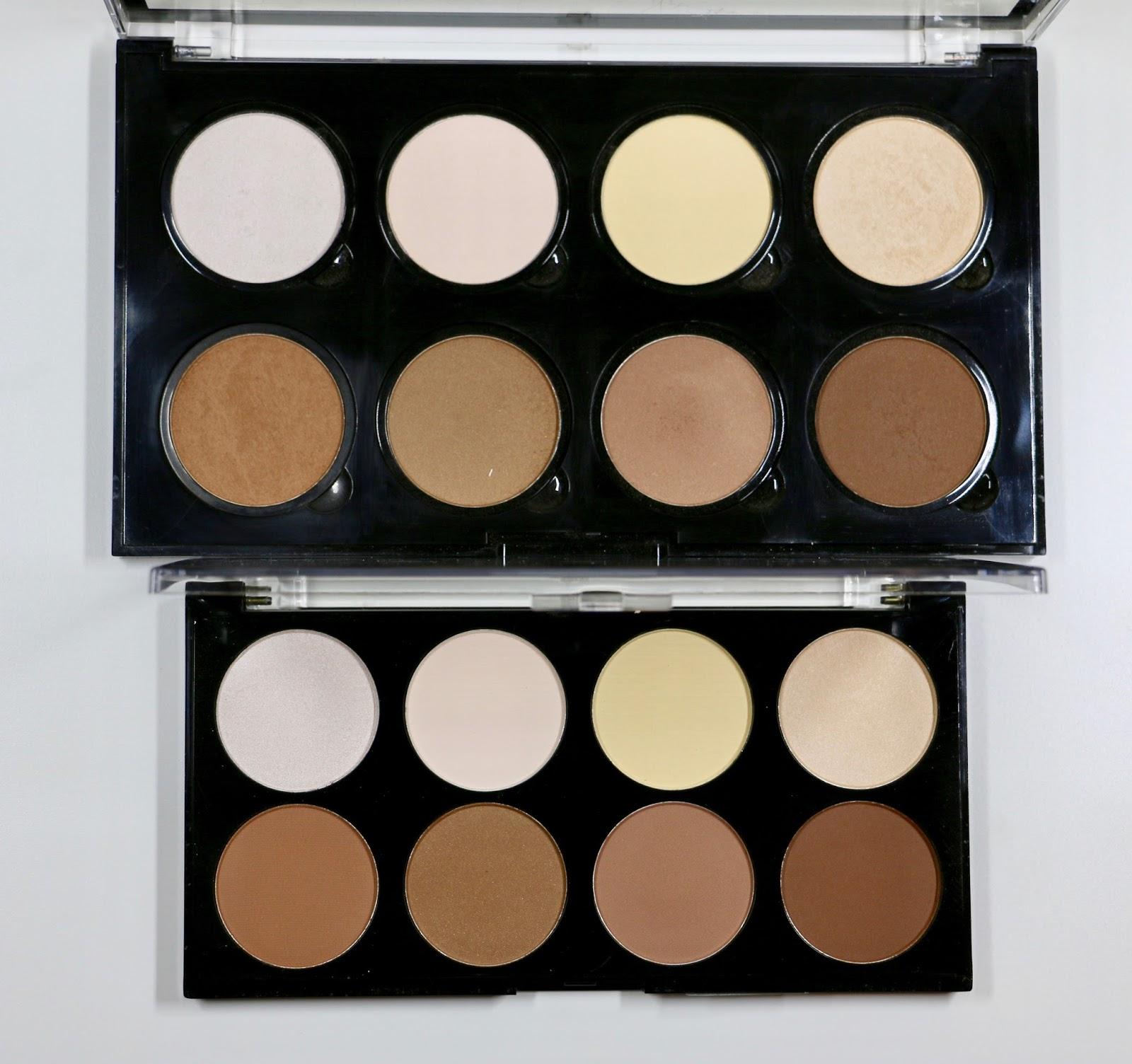 Nyx Vs Makeup Revolution Highlight Amp Contour Palettes