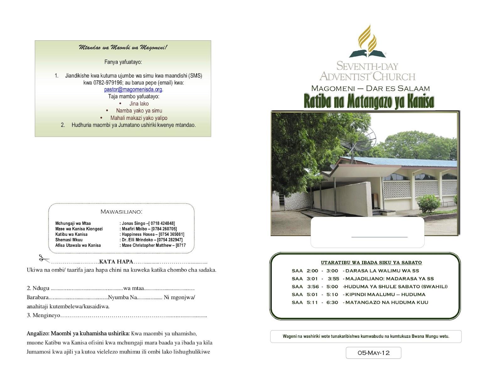 UFUNUO: Revelation of Hope: May 2012