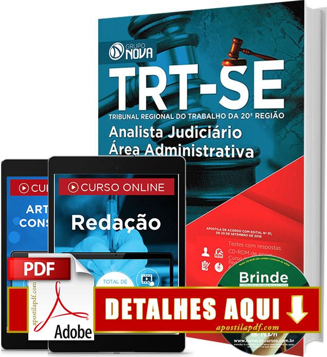 Apostila TRT 20 2016 Analista Judiciário Impressa