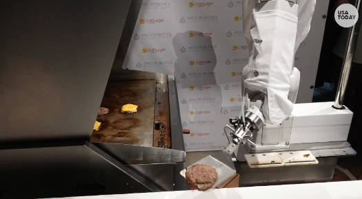 A robot is now flipping fast-food burgers; is this the end to the short-order cook?