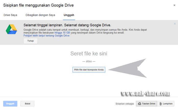 Mengirim File Besar Melalui Google Drive