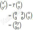 Persamaan matriks transformasi