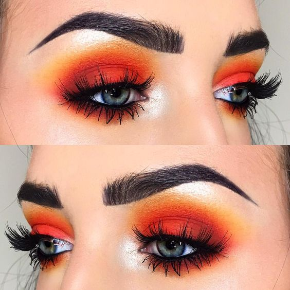 make-up summer look orange