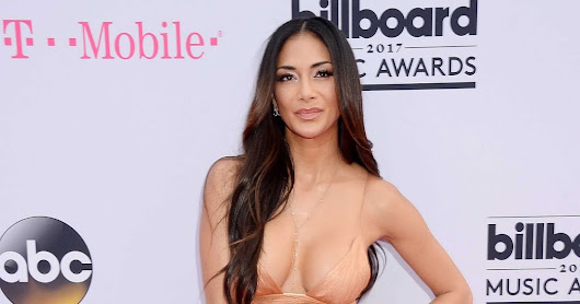 Nicole Scherzinger spills out curves in nude gown at the 2017 Billboard Music Awards