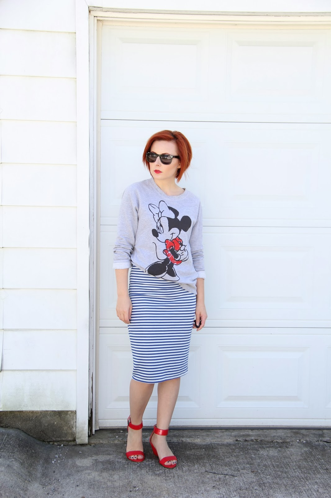 Thrift And Shout: Cute Outfit Of The Day: Sweatshirt Chic