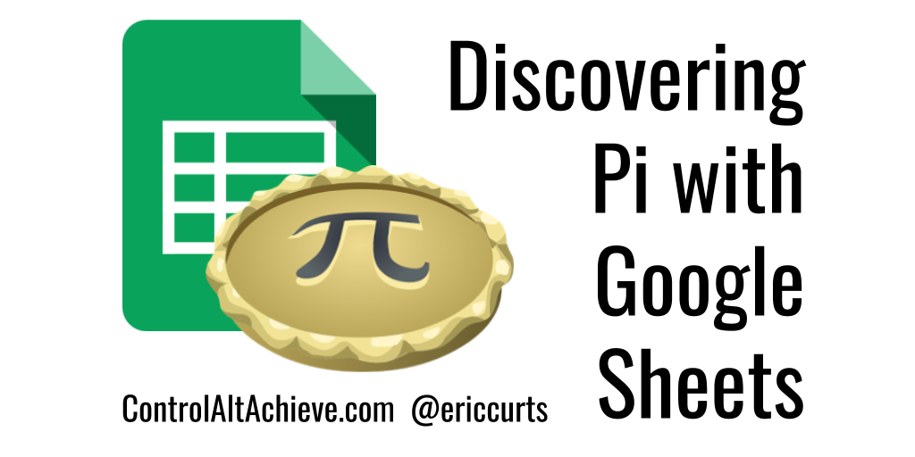 Control Alt Achieve Discovering Pi With Google Sheets