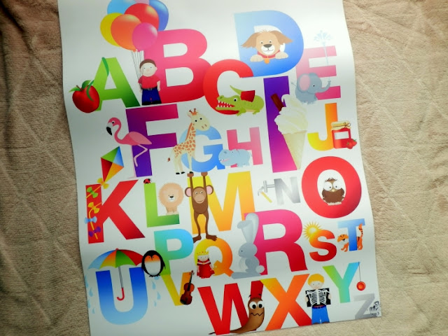 plakat s abecedou, plakat pro deti