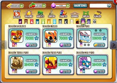 Comprar Dragón Puro desde la tienda de dragón city