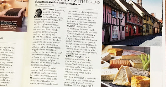 One of the Great British Getaway in Delicious Magazine