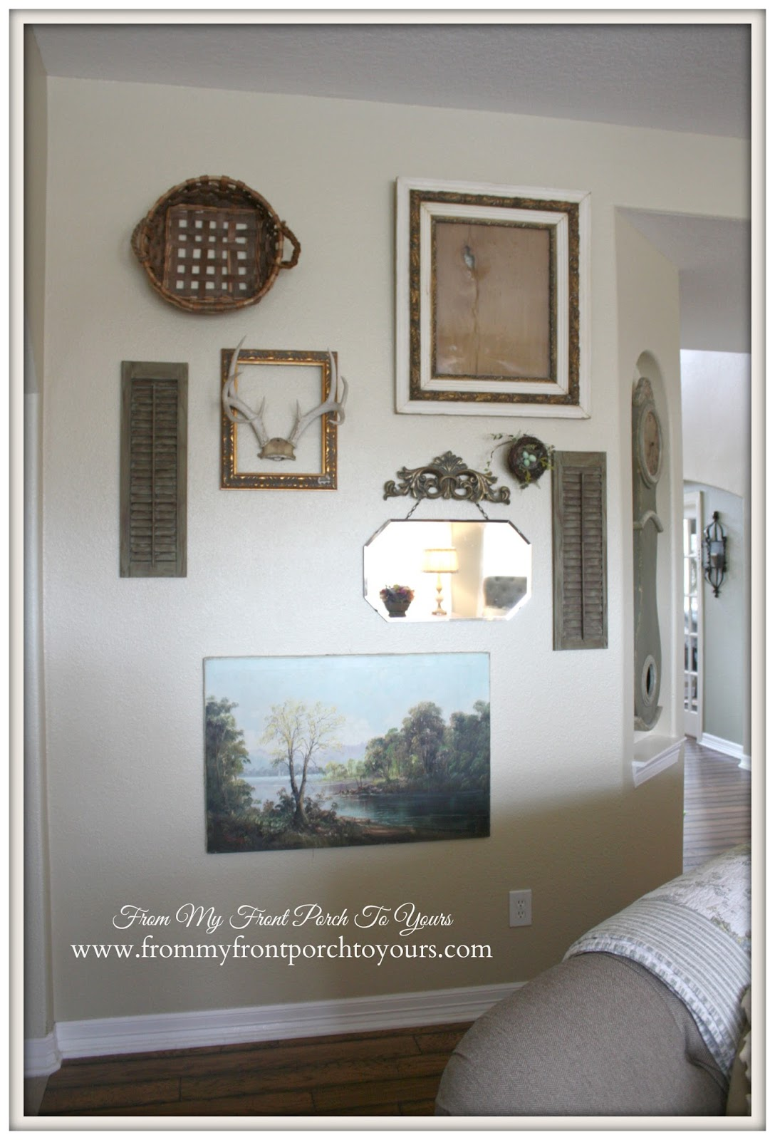 Gallery Wall IN Living Room- The Magnolia Market-From My Front Porch To Yours