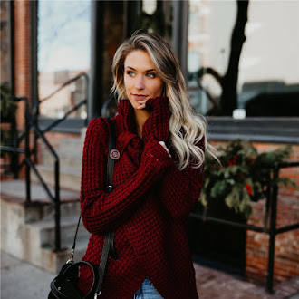 women cardigan sweater turtleneck winter
