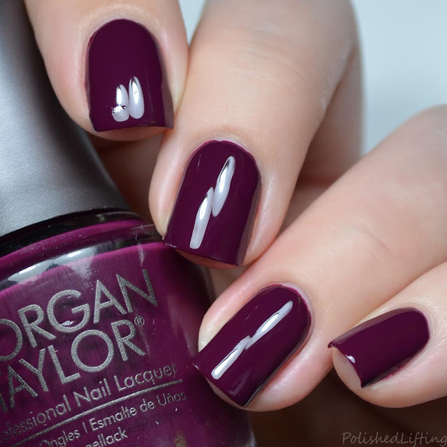 warm purple creme nail polish